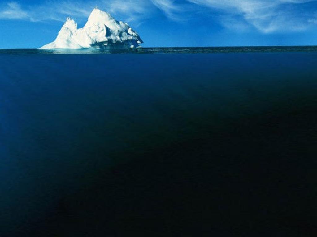 氷山モデルー見えている領域